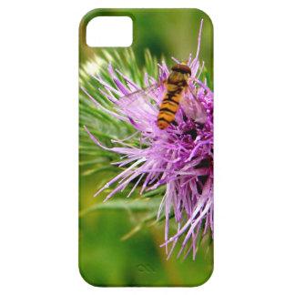 bee on purple flower iPhone 5 case