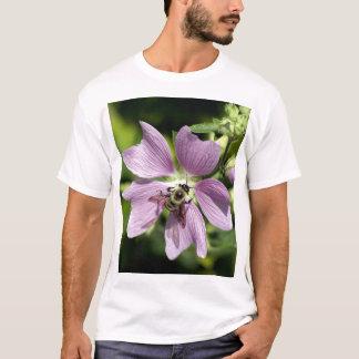 Bee on purple geranium  T-Shirt