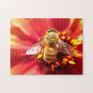 Bee on Red Flower Puzzle