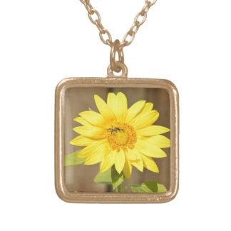 Bee on Sunflower Pendants