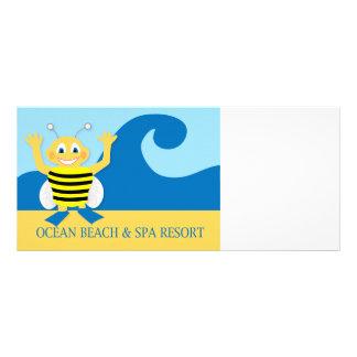Bee on the beach rack card