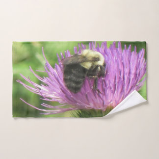 Bee On Thistle Bath Towel Set