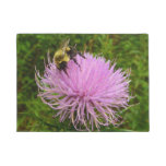 Bee on Thistle Flower Doormat
