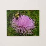 Bee on Thistle Flower Jigsaw Puzzle