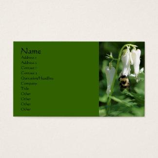 Bee On White Columbine Flower Business Card