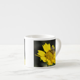 Bee on Yellow Flower Espresso Cup