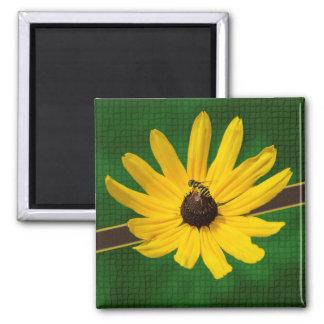 Bee on Yellow Flower Fridge Magnet