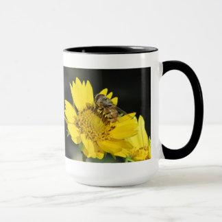 Bee on Yellow Flower Mug