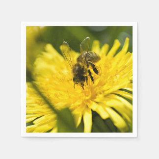 Bee On Yellow Flower Standard Cocktail Napkin