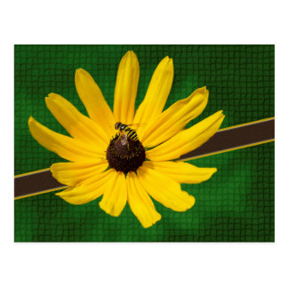 Bee on Yellow Flower Postcard