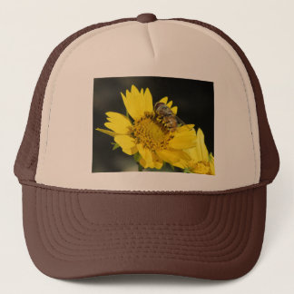 Bee on Yellow Flower Trucker Hat