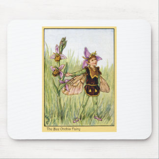 Bee Orchis Fairy Mouse Pad