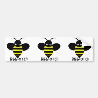 Bee-otch stickers black wings