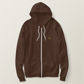 Bee Outline Embroidered Hoodie
