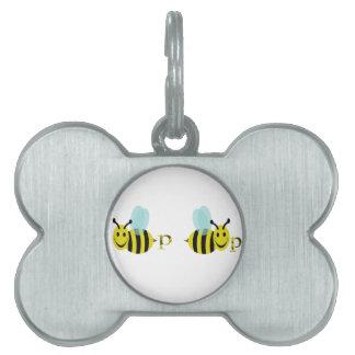 Bee p Bee p Pet Name Tag