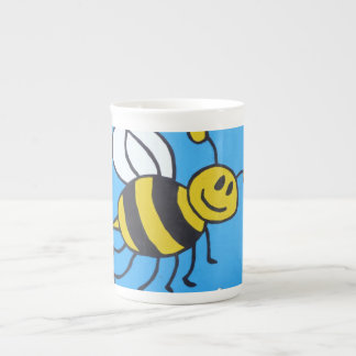 Bee painting tea cup