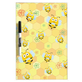 Bee Pattern and honeycomb Dry-Erase Board