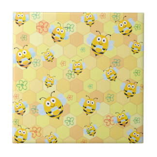Bee Pattern and honeycomb Tile