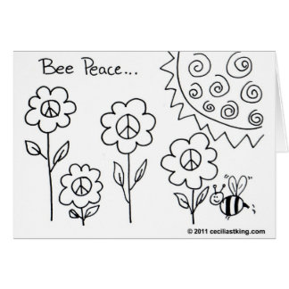 Bee Peace Card