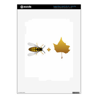Bee plus a golden maple leaf Bee + Leaf Belief Skins For iPad 3