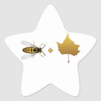 Bee plus a golden maple leaf = Bee + Leaf (Belief) Stickers