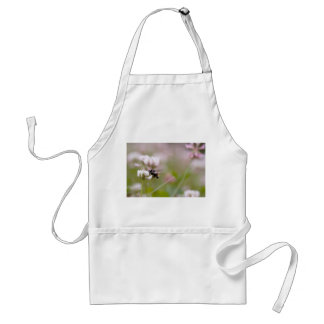 Bee Pollinating Clover Adult Apron