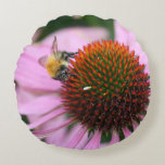 Bee Polyester Round Pillow