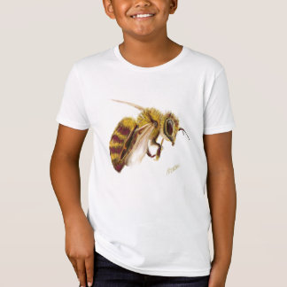 Bee Print on Kid's Organic American Apparel Tee