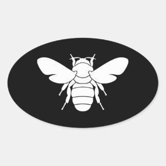 Bee Print Oval Sticker