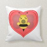 Bee Queen Throw Pillows