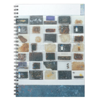 Bee resin casts spiral notebook
