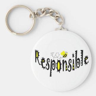 Bee  Responsible key chain