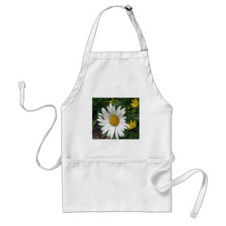 Bee Resting on shasta Daisy Adult Apron