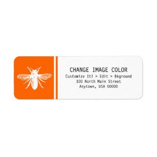 Bee - Return Address Label