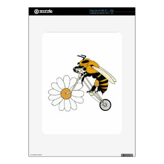 Bee Riding Bike With Flower Wheel Decals For iPad
