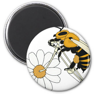 Bee Riding Bike With Flower Wheel Magnet