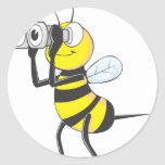 Bee Searching Classic Round Sticker
