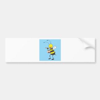 Bee Shirt | Custom Bee Eating Noodles Shirt Bumper Sticker