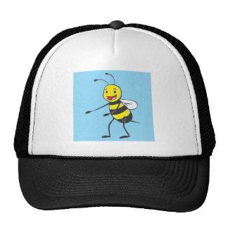 Bee Shirt | Custom Bee Pointing Showing Something Trucker Hat