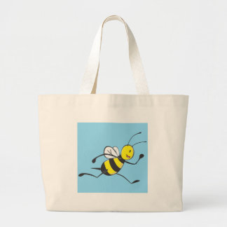 Bee Shirt   Custom Bee Running Fast Canvas Bag