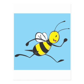 Bee Shirt | Custom Bee Running Fast Postcard