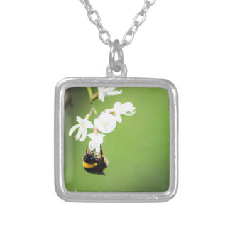 Bee Silver Plated Necklace
