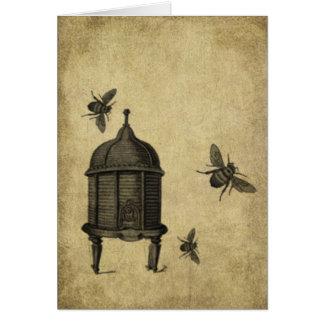 Bee Skep & Bees- Prim Lil Note Cards