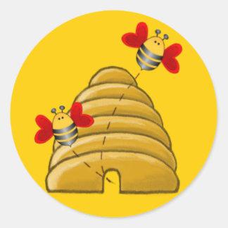 BEE SKEP by SHARON SHARPE Sticker