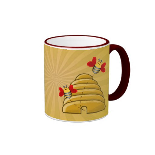BEE SKEP & RAYS by SHARON SHARPE Ringer Mug