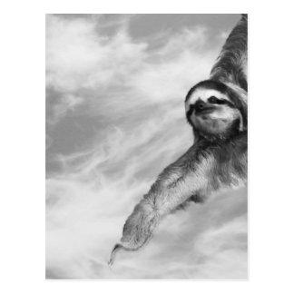 bee & sloth postcard