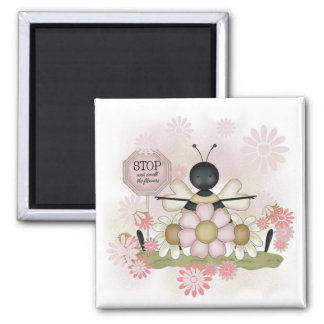 Bee Smell the Flowers Tshirts and Gifts Refrigerator Magnet