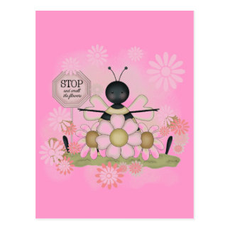 Bee Smell the Flowers Tshirts and Gifts Postcard