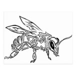 """Bee Spirit"" ver1- Surreal tribal bee totem animal Postcard"