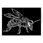 """Bee Spirit"" ver2- Surreal tribal bee totem animal Greeting Card"